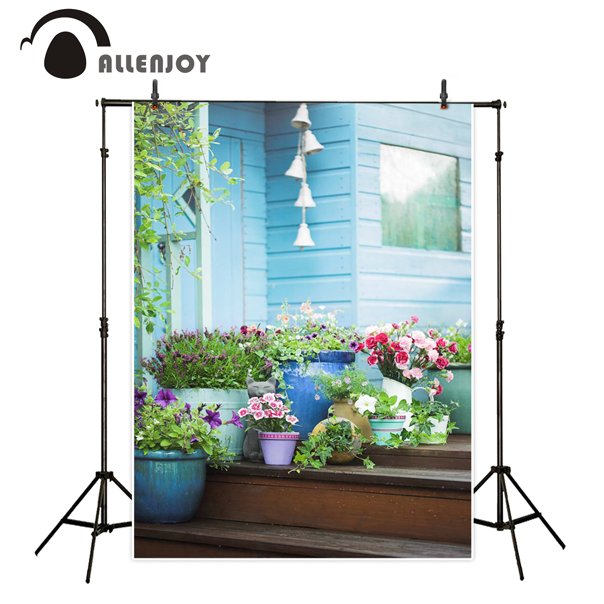 Allenjoy photography backdrops countryside bonsai cat background photography backgrounds for photo studio 200*300cm цена