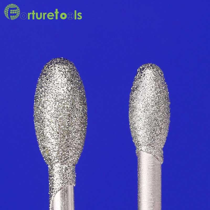 50tk teemantiga kinnitatud munakujuline teemantlihvimispea - Abrasiivtööriistad - Foto 3