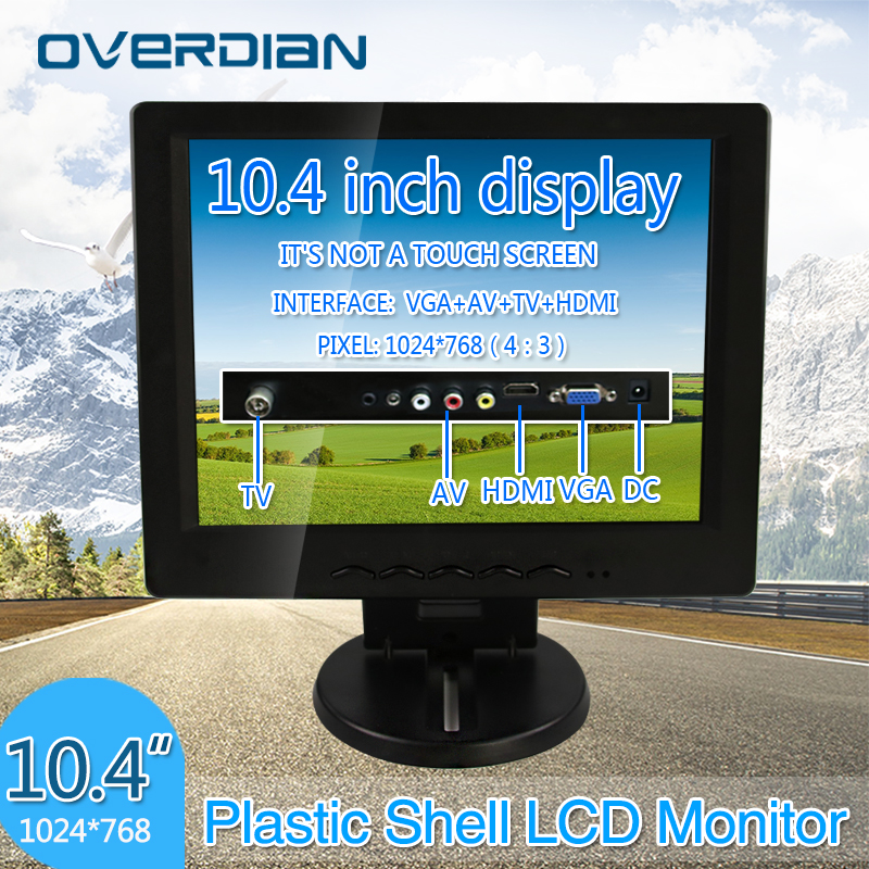 10.4 VGA/HDMI/TV/AV Connector Monitor 1024*768 Song Machine Cash Register Square Screen Lcd Monitor/Display Non-touch Screen