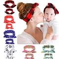 Baby Girl Headbands Infant Flower Turban Headband Paternity Cute Rabbit Ear Headband sets