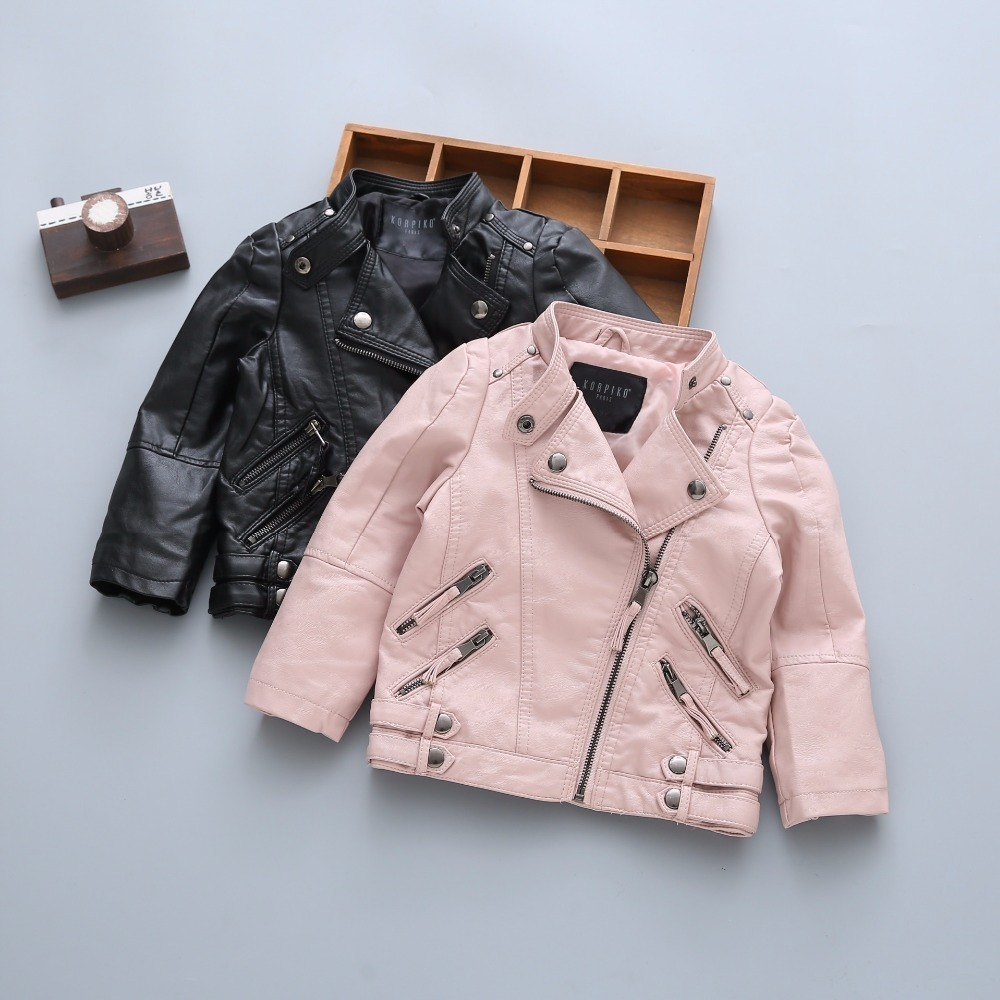 Children PU Leather Jacket Boys Winter Leather Coats With Fur Girls Winter Jacket Children Solid Casual OuterwearChildren PU Leather Jacket Boys Winter Leather Coats With Fur Girls Winter Jacket Children Solid Casual Outerwear