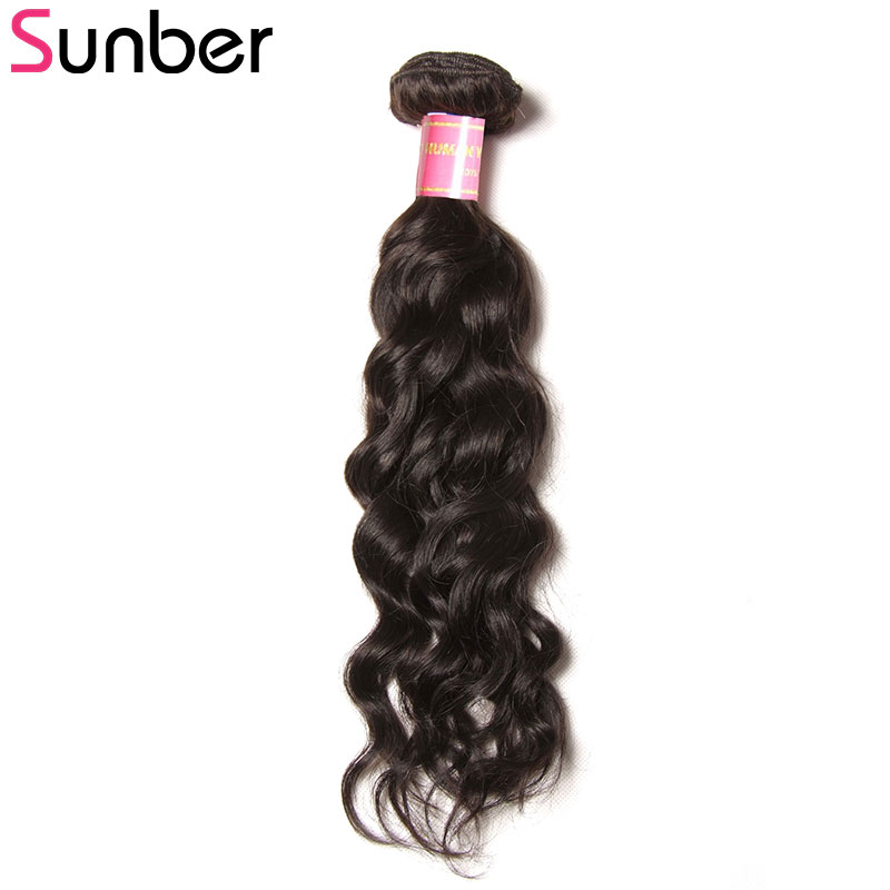 Sunber Hair Natural Wave Brazilian Human Hair Weave Bundles 1 Piece Only 8-26 Inch Can Mix Length Remy Hair Free Shipping