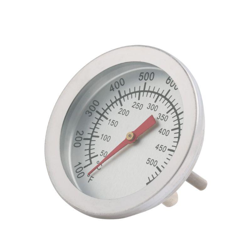 1 Pc Edelstahl Grill Bbq Raucher Grill 50-500 Grad Thermometer Temperatur Gauge