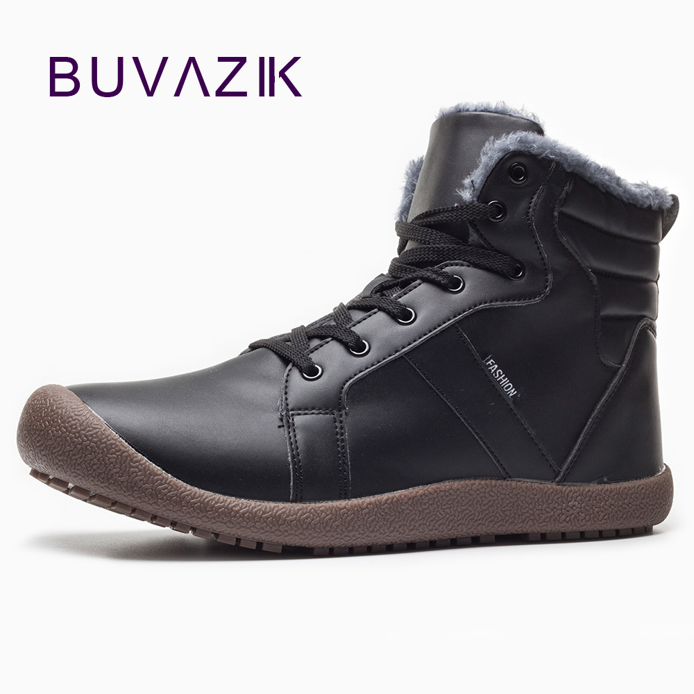 BUVAZIK 2018 men winter boots Waterproof Thicken non-slip snow boots men warm and comfortable Cotton shoes Large size 39-46 dynarex cotton ball large non sterile 1000 count