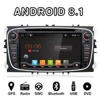 Bosion 7 дюймов Восьмиядерный Android 8,1 штатную gps Navi Радио MP3 MP5 DVD плеер для Ford Focus Mondeo galaxy подключения S Max