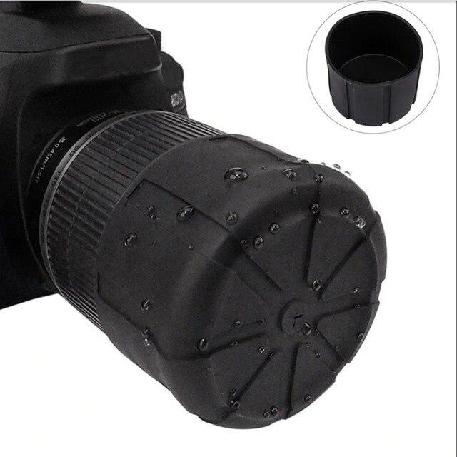 Không thấm nước SLR Silicone Máy Ảnh bìa phổ Lens Cap Chủ Bìa Máy Ảnh Len Bìa Cho Canon Nikon Sony Olypums Fuji Lumix Dmc-