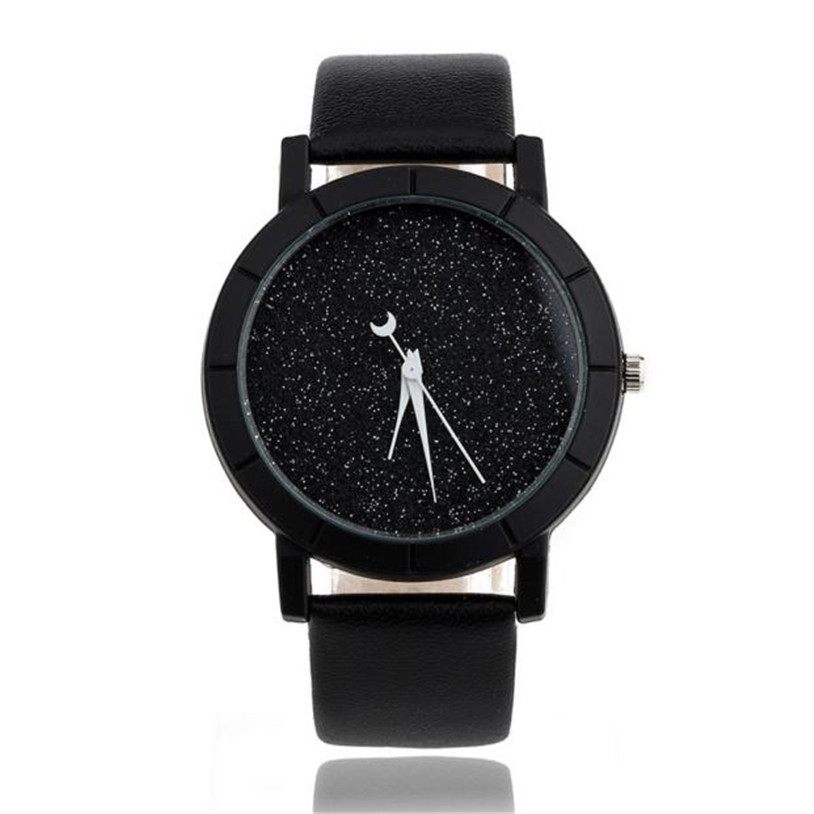 Men Watch Women Montre Femme Casual High Quality Star Minimalist Fashion Watches For Lovers Leather Strap Watch Hot Sale 4*