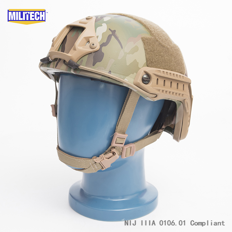 ISO Certified MILITECH MC OCC Dial NIJ Level IIIA 3A FAST High Cut Bulletproof Kevlar Ballistic Helmet With 5 Years Warranty militech black occ dial nij level iiia 3a fast high cut ballistic bulletproof tactical helmet with 5 years warranty devgru seal