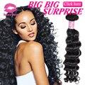 Kiss Me Продукты Волос Перуанский Девственные Волосы Глубокая Волна Богородицы Перуанский Weave Волос Связки Дешевые Перуанский Волос 3 Шт. Лот