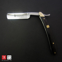 free shipping old fashioned striaght razor with copper head wood handle