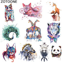 ZOTOONE Pretty Animal Patches A-level Washable Iron on Transfer Patches T-shirt Dresses Parches Easy Print By Household Irons C sew pretty t shirt dresses
