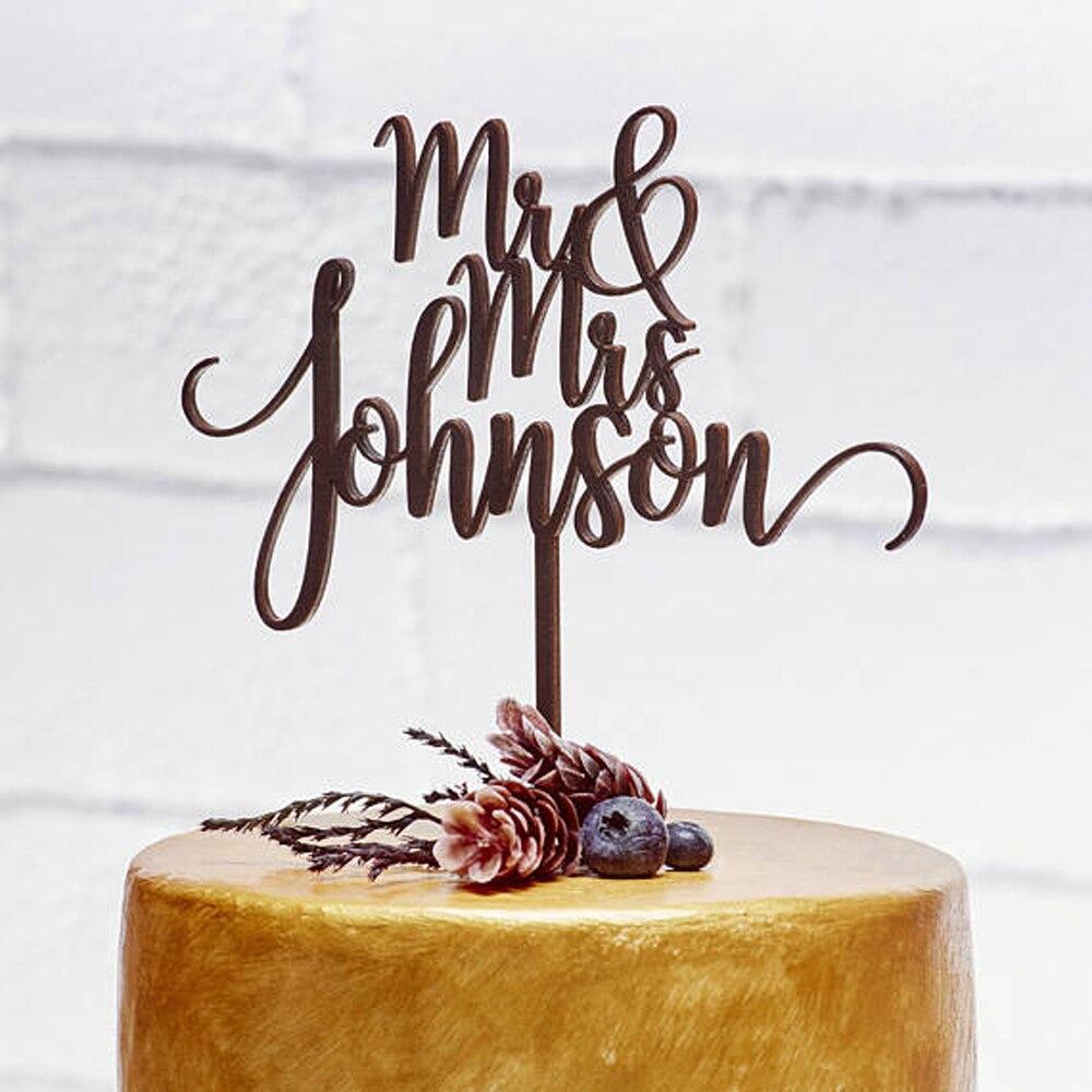 Wedding Cake Toppers Love Anniversary Cake Topper Sposa e Lo Sposo In Legno Cake Topper Personalizzato Mr Mrs Wedding Decorazioni Della Torta