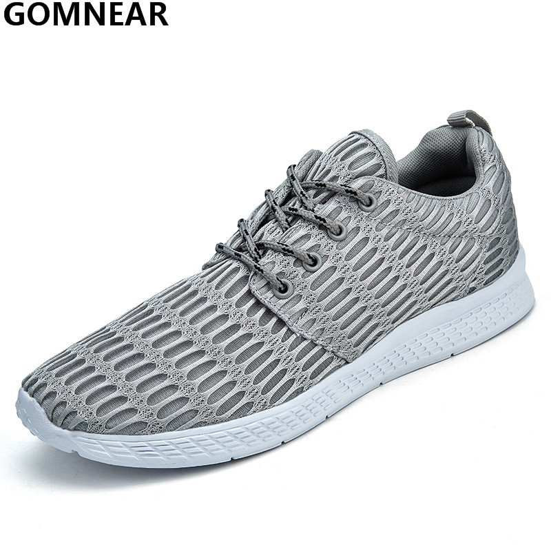 GOMNEAR Spring Men's Running Shoes Outdoor Breathable Tourism Trekking Athletic Shoes Lightweight Jogging Training Sport Shoes