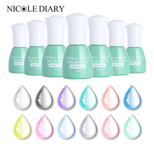 NICOLE DIARY 6ml Opal Jelly Soak Off Gel Polish Manicure Nail Art UV Gel Semi Vernis transparent Permanent Nail Varnish