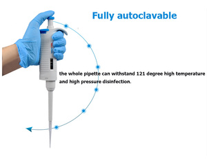 Image 3 - JOANLAB lab Completely autoclavable Pipette MicroPette Single Channel Adjustable TopPette Pipettor Pipet, Fully autoclavable