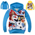 Hot Children Clothing Snowman Olaf Hoodies Sweatshirts Kids Terry Cotton Topwear Boys long sleeve sweater Kids Outerwear -0660