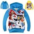 Ropa de Los Niños calientes Muñeco de Nieve Olaf camisetas de Los Hoodies Niños Terry Algodón Camisetas Y Tops Niños de manga larga suéter de Los Niños prendas de Vestir Exteriores-0660