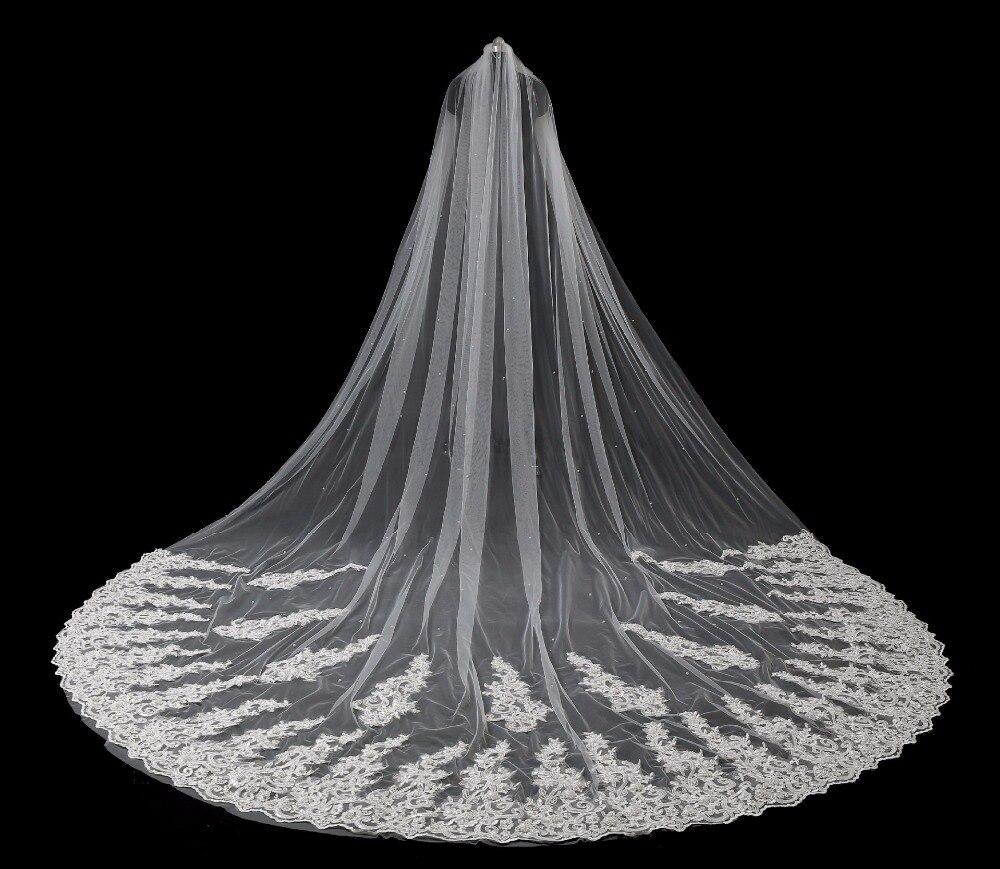 Aliexpress Com Buy New Arrival  Meter Beaded Pearls Bridal Veil  Ivory Wedding Veil Veu De Noiva Voile De Mariee Sexy Wedding Accessories From