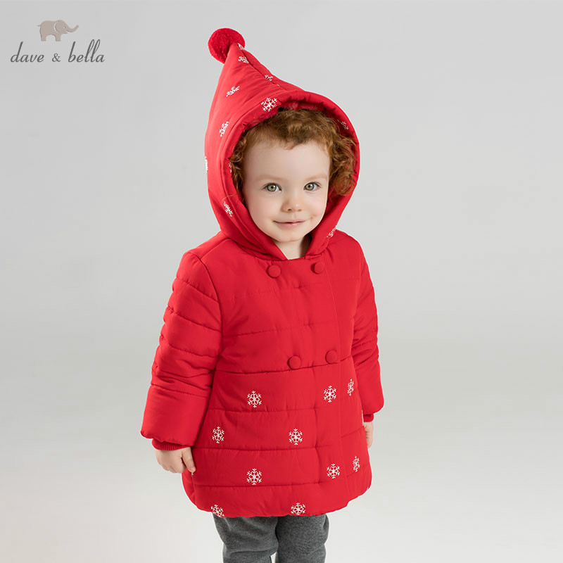 DB8967 dave bella winter baby girls padding jacket children red fashion outerwear kids coatDB8967 dave bella winter baby girls padding jacket children red fashion outerwear kids coat