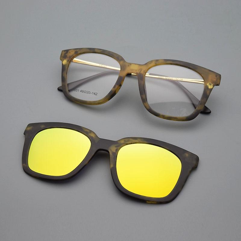 Full Frame Kacamata Bingkai Kacamata Bingkai Sabuk Klip Magnet - Aksesori pakaian - Foto 4