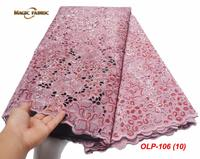 Nigerian Lace Fabric 2019 High Quality Lace 3d Sequin Lace Fabric Organza Lace For African wedding dress OLP 106