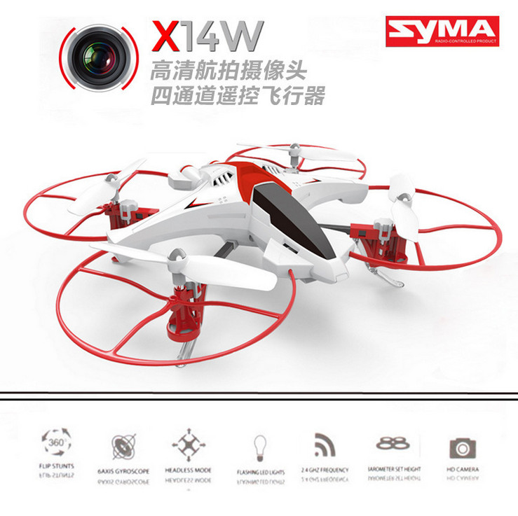 Syma X14W RC Quadcopter With Camera WIFI FPV Remote Control drone Dron Helicopter quad copter toys for children gift x5hw wltoys rc drone quadcopter dron with camera hd wifi fpv quadrocopter 2 4g 6axis remote control helicopter toys for christma gift