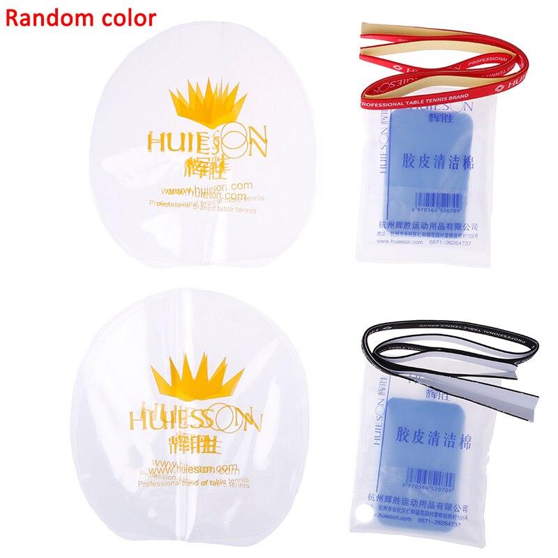 1 Piezas De Tenis De Mesa De Protección De Película Protectora + Limpiador Esponja + Raqueta Protección De Borde Cinta Raqueta Accesorios Para El Cuidado