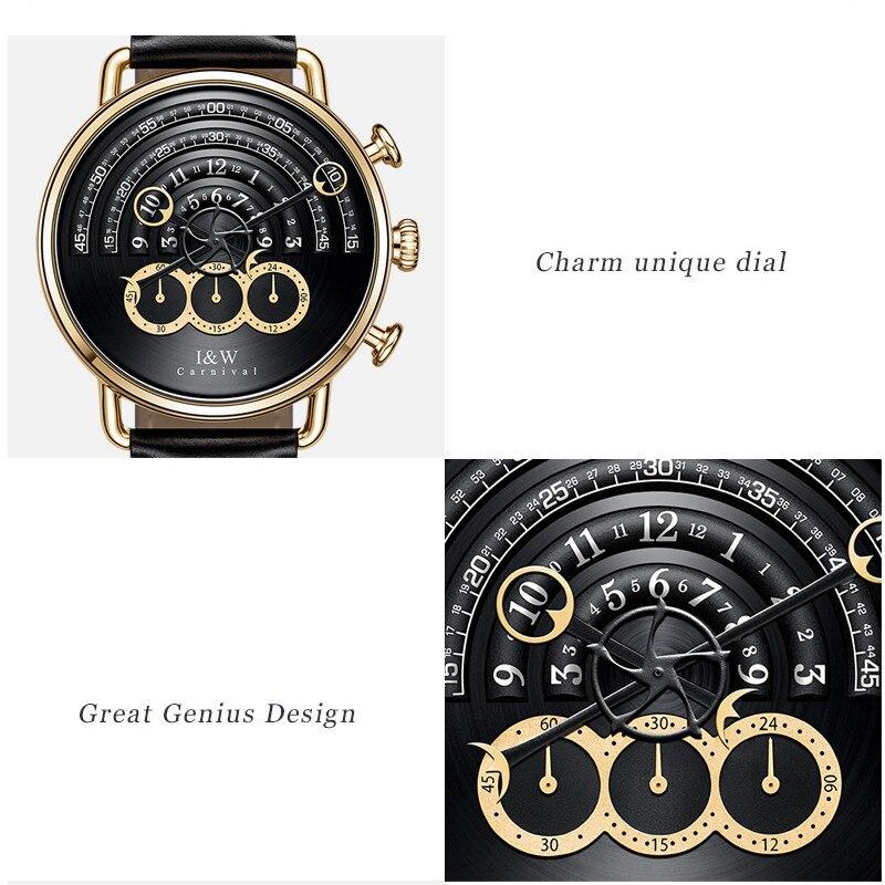 Карнавальные модные черные мужские часы, высокое качество, ультра тонкие кварцевые часы для мужчин, уникальный черный циферблат, кварцевые ... - 2