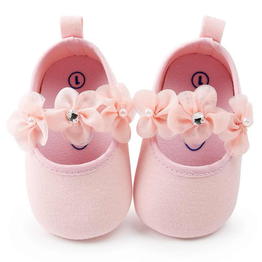 Baby Girl Shoes Spring Autumn Flowers Diamond Gauze Cotton Soft Baby Shoes Princess Fashion Baby Shoes