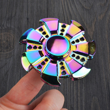 Rainbow Heptagonal Finger Spinner Stable Fidget Hand Spinner Toy Perfect for ADHD Anxiety Reduce Stress Relief and Spending Time