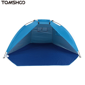 Image 1 - TOMSHOO Outdoor Beach Tent Sunshine Shelter 2 Person Sturdy  170T Polyester Sunshade Tent for Fishing Camping Hiking Picnic Park