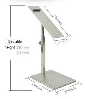 Stringy stainless steel metal  Shoe Display showing Stand Shoe Riser Bracket Stand stainless steel Shoes Holder