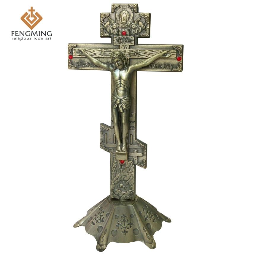 Řecká ortodoxní ikona katolické křesťanské kovové Ježíš - Dekorace interiéru