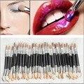 10 Unids/set Maquillaje Doble-end Mujeres Esponja Aplicador de Sombra de Ojos Delineador de ojos Cepillos Cosméticos Herramienta para Señora de Las Mujeres componen belleza