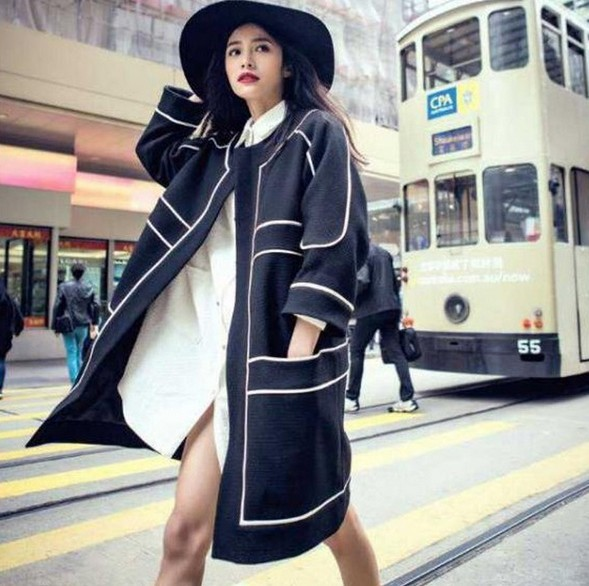 2017 Autumn Women Trench Female Loose Top Overcoat Long Sleeve Casual Trench elegant  Long trench coat Outerwear  clothes  03