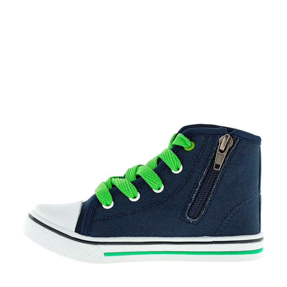 [Available with 10 11] Sneakers with zipper Ben 10 zipper side lace up pu sneakers