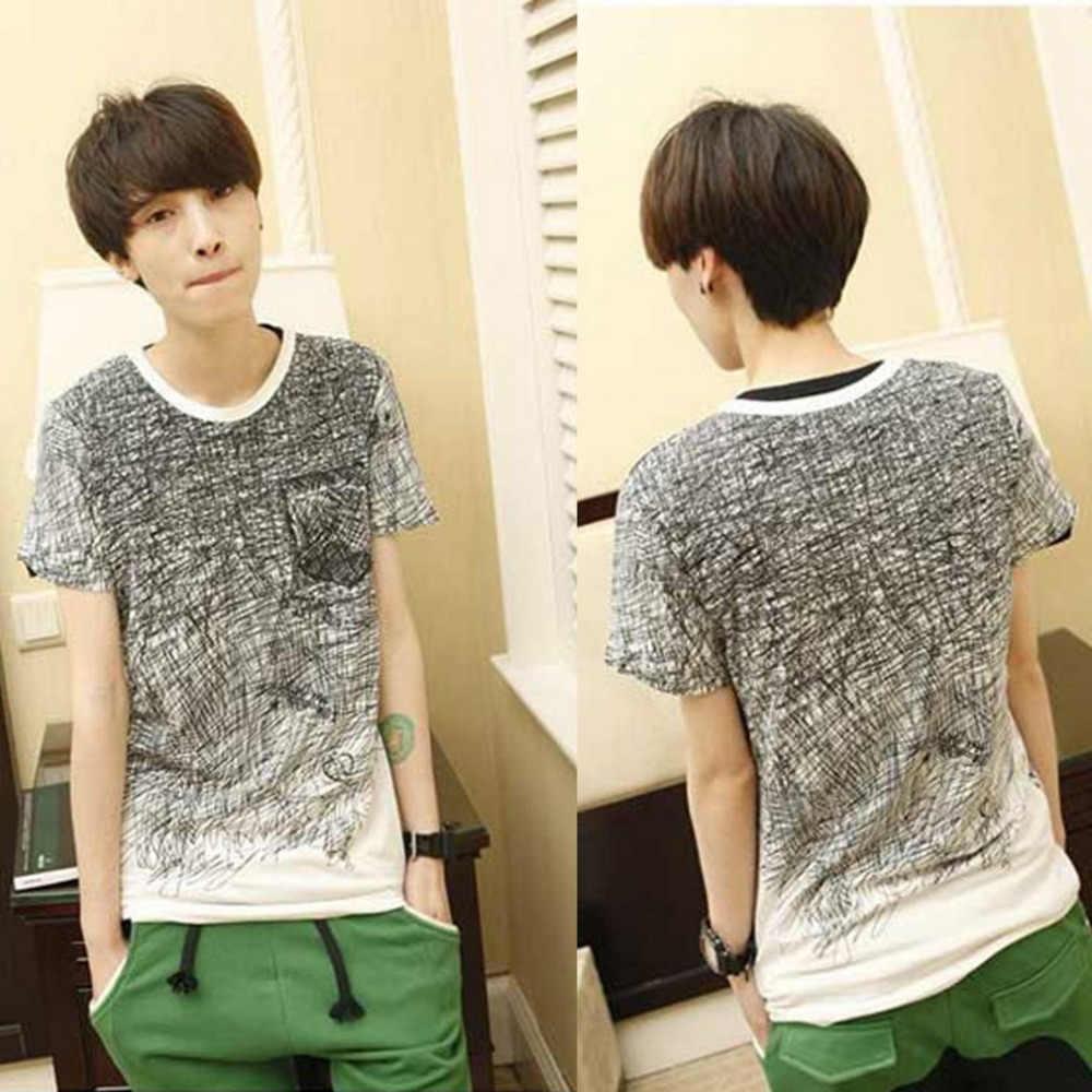 Mannen T-shirt Zomer Kleding Tee Shirt Camisetas Heren Katoen Korte Mouw Camisa Masculina Mannelijke T-shirt Blusa