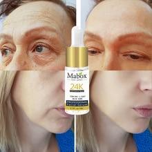 Mabox 24K Gold Six Peptides Face Serum Moisturizer Essence Cream Whitening Day Creams Anti Aging Anti Wrinkle Firming Skin Care