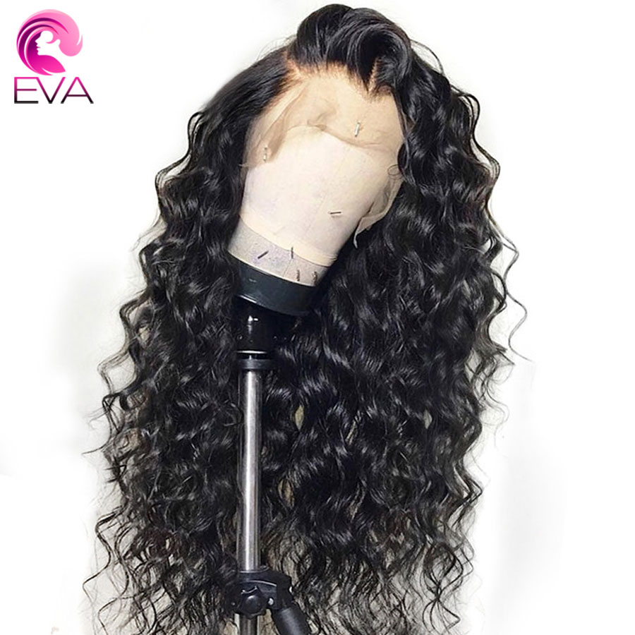 EVA Glueless Lace Front Human Hair Wigs Pre Plucked With Baby Hair Brazilian Remy Loose Curly