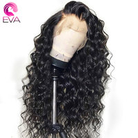 EVA Glueless Lace Front Human Hair Wigs Pre Plucked With Baby Hair Brazilian Remy Loose Curly Lace Front Wigs For Black Women