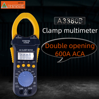 HONEYTEK Digital Clamp Multimeter Double opening meter tester Electronic 600A ACA Voltage Current Tester Ohm A3380B