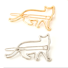 Lovely Zinc Alloy Silver Gold Cat Shape Hair Clip