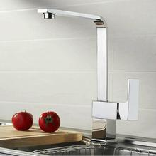 High quality big size 35cm tall square kitchen mixer faucet