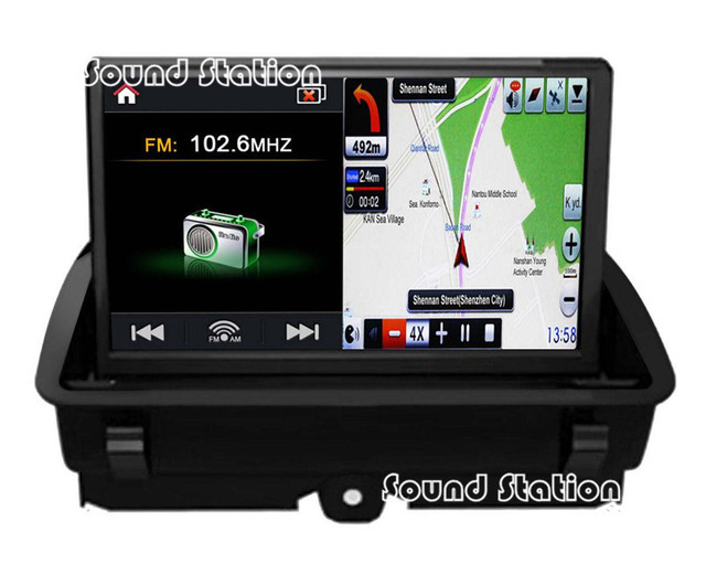 buy for audi q3 a1 car dvd gps navigation navigator media center radio audio. Black Bedroom Furniture Sets. Home Design Ideas