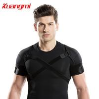 Kuangmi Double Shoulder Support Strap Adjustable Bandage Sports Double Shoulder Brace Wrap Belt Band Pad Back Support Protector