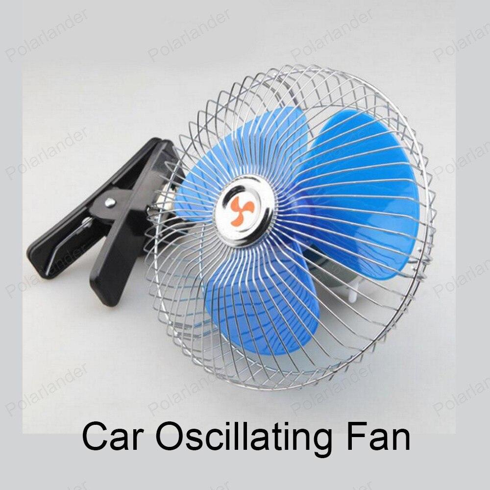 6 Inch 24v Portable Oscillating Car Fan Mini 25w Low Noise