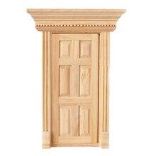 1:12 Масштаб деревянная Фея передняя дверь куклы дом Миниатюрный аксессуар