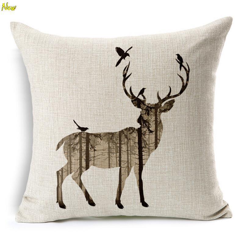 wholesale chair cushions air horn office prank animal cushion without core custom cotton linen deer decorative throw pillows rhino sofa home deco