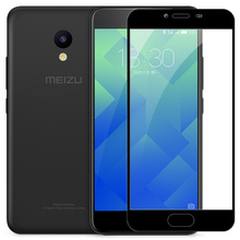For Meizu M5C  Full Cover Tempered Glass Screen Protector 9h All Body Safety Protective Film on M5 C 5C