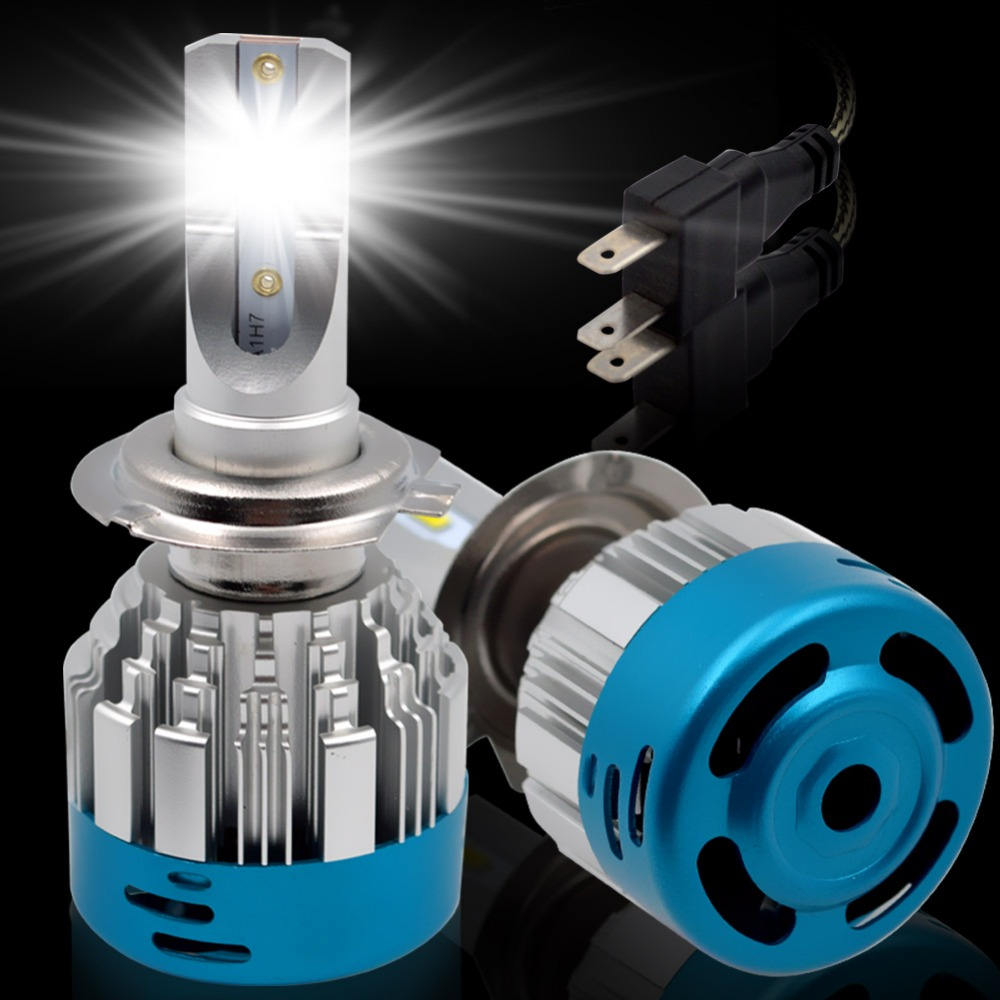 H7 H11 led HB3 9005 HB4 9006 LED Car Headlight Bulbs-Safego 54W H4 H8 H9 12v CSP Chips 6000K Auto Led Headlamp Fog Light Bulb